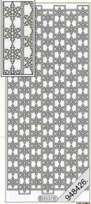 Stickers Bordüren / Linien - silber, silber,  Art - Stickers