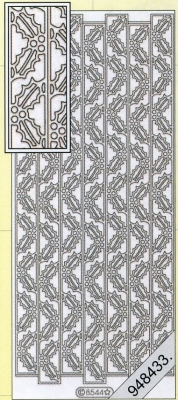 Starform, silber,  Art - Stickers