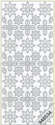 Stickers Weihnachts-Ornamente silber - silber, silber,  silber,  Art - Stickers