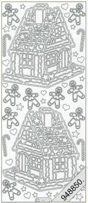 Stickers Lebkuchenhaus silber - silber, silber,  silber,  Art - Stickers