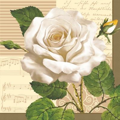 Maki POL-MAK Collektion,  Blumen - Rosen,  Sonstiges - Musik,  Blumen,  Everyday,  cocktail servietten