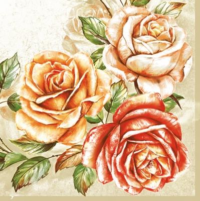 Servietten 25 x 25 cm,  Blumen -  Sonstige,  Blumen - Rosen,  Blumen,  Everyday,  cocktail servietten
