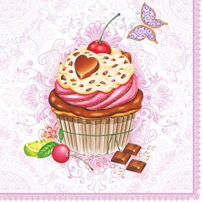 Maki Pol-Mak Collection,  Früchte -  Sonstige,  Tiere - Schmetterlinge,  Essen - Kuchen / Keks,  Everyday,  cocktail servietten