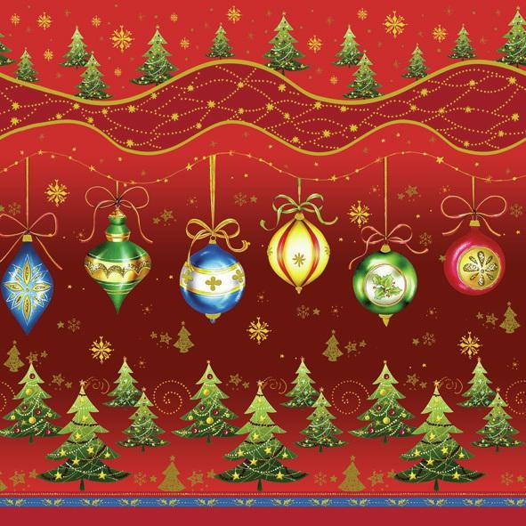 Lunch Servietten ,  Weihnachten - Weihnachtsbaum,  Weihnachten - Baumschmuck,  Weihnachten,  lunchservietten,  Baumkugeln,  Weihnachtsbaum