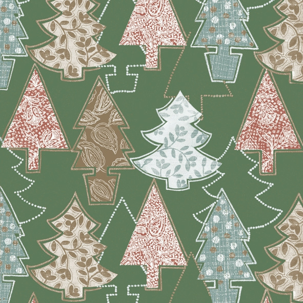 Servietten / Weihnachtsbaum,  Weihnachten - Weihnachtsbaum,  Weihnachten,  lunchservietten,  Weihnachtsbaum