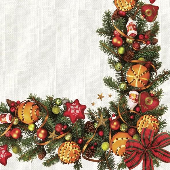 Lunch Servietten ,  Weihnachten - Baumschmuck,  Weihnachten - Adventskranz,  Weihnachten,  lunchservietten,  Adventskranz,  Baumkugeln