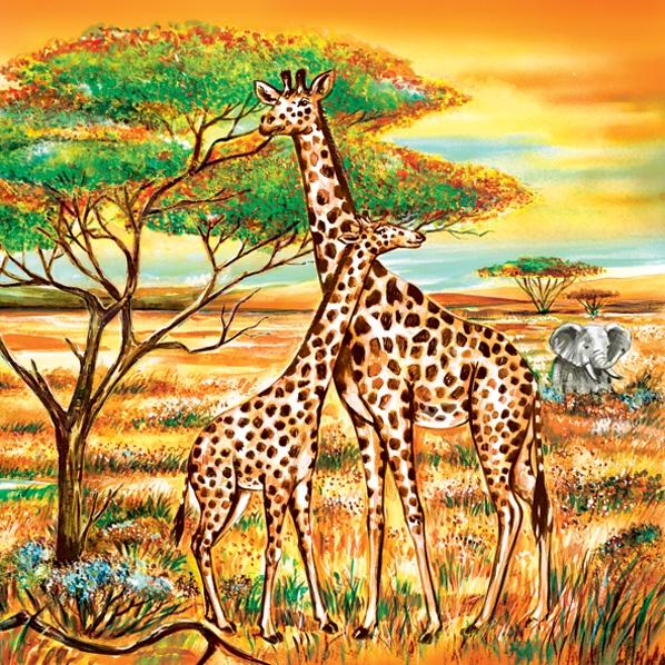 Lunch Servietten Giraffen