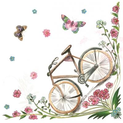 Servietten / Fahrzeuge,  Fahrzeuge - Fahrräder,  Everyday,  lunchservietten,  Fahrrad