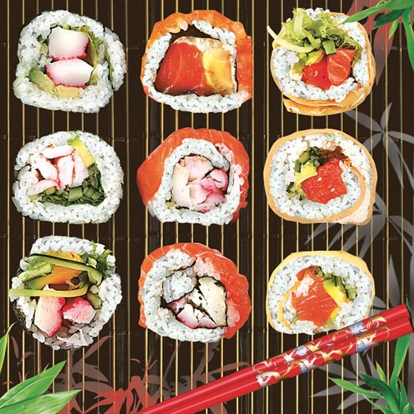 Daisy,  Essen - Sushi,  Everyday,  lunchservietten,  Sushi