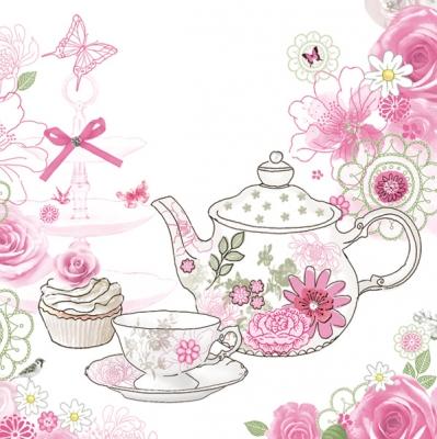 Lunch Servietten Tea and Cupcake