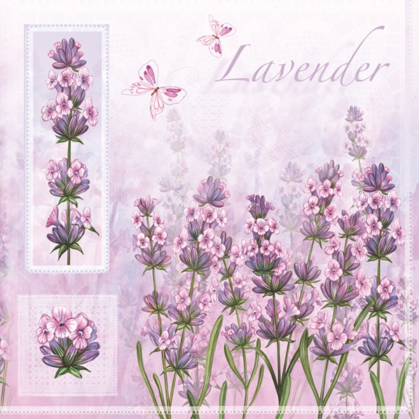 Lunch Servietten Lavender,  Blumen - Lavendel,  Everyday,  lunchservietten,  Lavendel