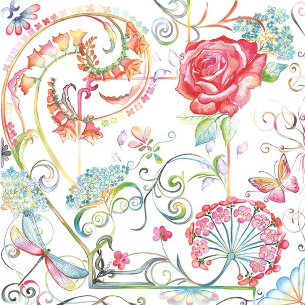 Lunch Servietten Rosen,  Blumen -  Sonstige,  Everyday,  lunchservietten,  Blumen