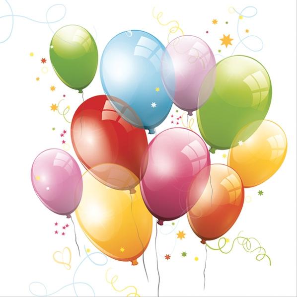Daisy,  Motive - Luftballon,  Everyday,  lunchservietten,  Luftballon