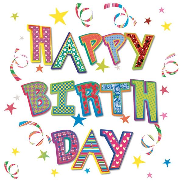 Lunch Servietten Happy Birthday,  Sonstiges - Schriften,  Ereignisse - Geburtstag,  Everyday,  lunchservietten,  Geburtstag,  Schriften