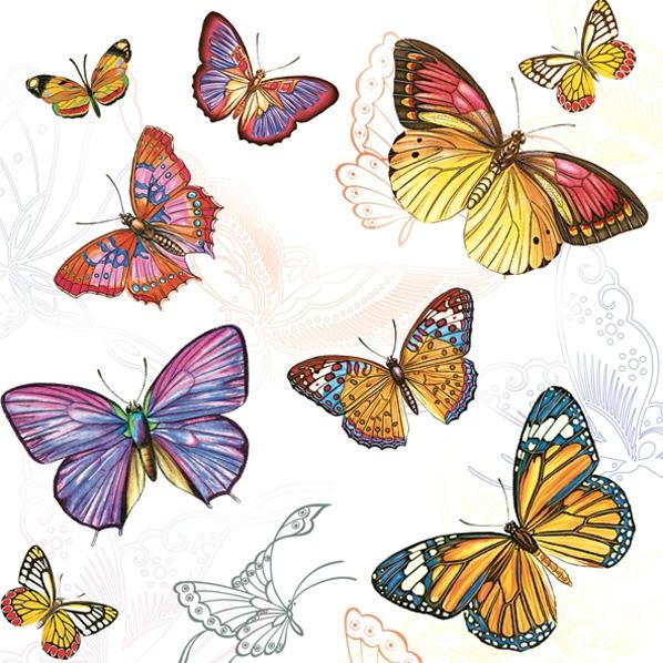 Lunch Servietten Schmetterlinge