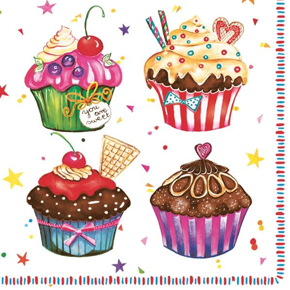 Servietten / Essen,  Essen - Kuchen / Keks,  Everyday,  lunchservietten,  Muffins