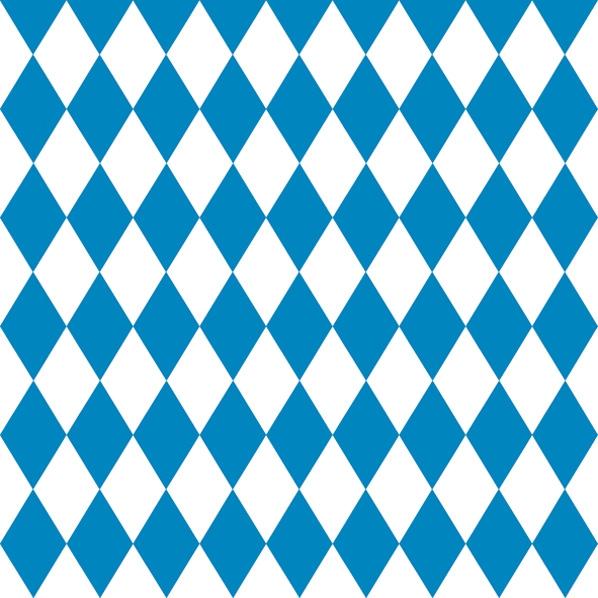 Lunch Servietten Bayern Route,  Regionen -  Sonstige,  Sonstiges - Muster,  Everyday,  lunchservietten,  Bayern,  Rauten