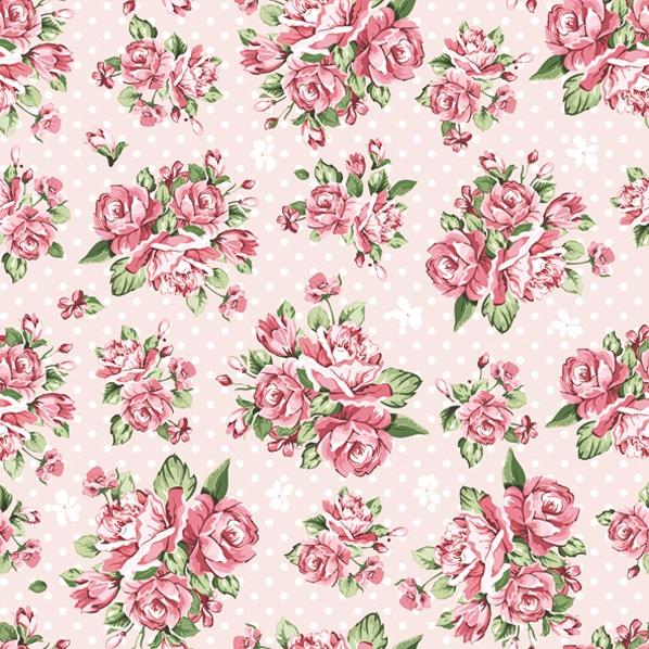 Napkins 33x33 cm - Rose on pink background