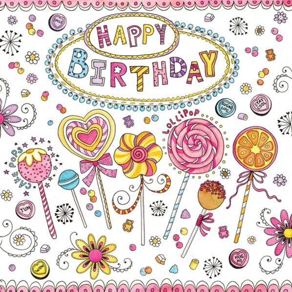 Neuheiten Daisy,  Essen - Süßigkeiten,  Ereignisse - Geburtstag,  Everyday,  lunchservietten,  Geburtstag,  Süßigkeiten