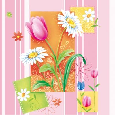 Lunch Servietten Gardenflowers of rose,  Blumen -  Sonstige,  Blumen - Tulpen,  Blumen,  Frühjahr,  lunchservietten