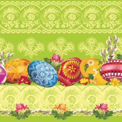 Daisy,  Ostern - Ostereier,  Ostern,  Ostern,  lunchservietten,  Ostereier,  Ornamente