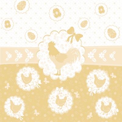 Daisy,  Ostern - Ostereier,  Ostern - Huhn / Hahn,  Ostern,  lunchservietten,  Ostereier,  Huhn