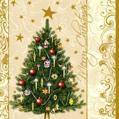 20 Servietten - 33 x 33 cm ,  Weihnachten - Weihnachtsbaum,  Weihnachten,  lunchservietten,  Weihnachtsbaum