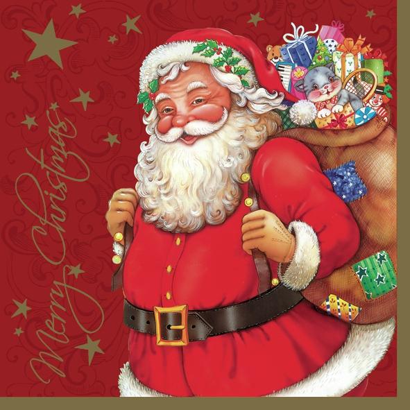 20 Servietten - 33 x 33 cm ,  Weihnachten - Weihnachtsmann,  Weihnachten,  lunchservietten,  Weihnachtsmann