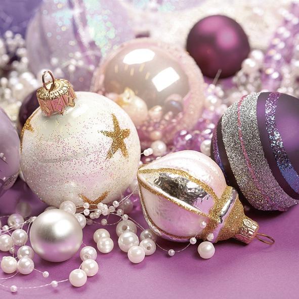 Lunch Servietten ,  Weihnachten - Baumschmuck,  Weihnachten,  lunchservietten,  Baumkugeln
