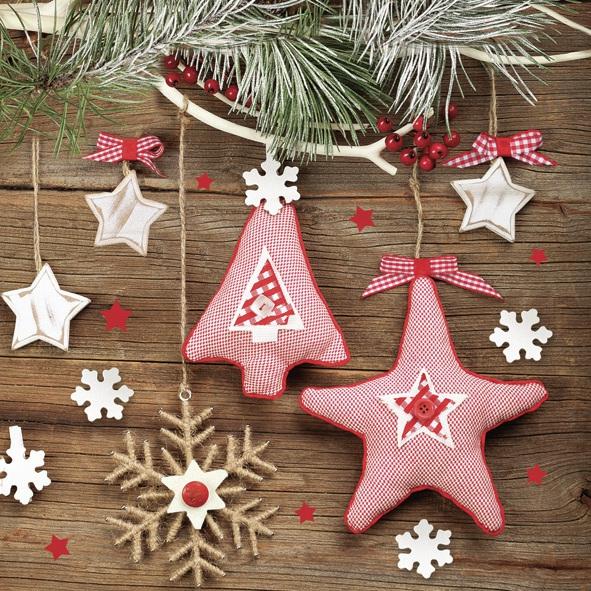 Lunch Servietten ,  Weihnachten - Baumschmuck,  Weihnachten - Sterne,  Weihnachten,  lunchservietten,  Baumschmuck,  Sterne