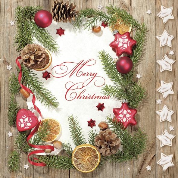 Lunch Servietten ,  Sonstiges - Schriften,  Weihnachten - Sterne,  Weihnachten,  lunchservietten,  Sterne,  Schriften