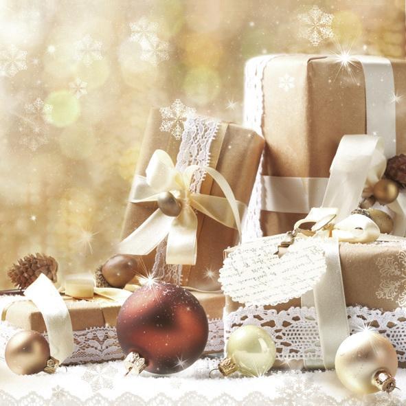 Servietten nach Jahreszeiten,  Weihnachten - Geschenke,  Weihnachten,  lunchservietten,  Geschenke