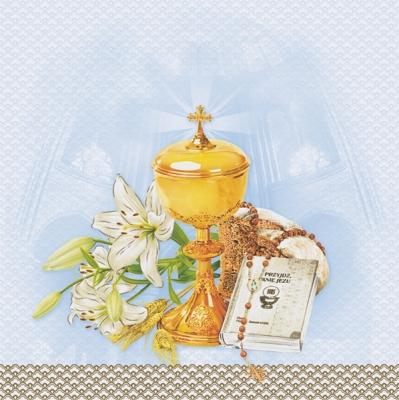 Servietten zur Kommunion / Konf.,  Ereignisse - Kommunion,  Everyday,  lunchservietten,  Kommunion,  Konfirmation