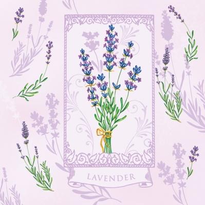 Lunch Servietten Lavendel lilac,  Blumen - Lavendel,  Everyday,  lunchservietten