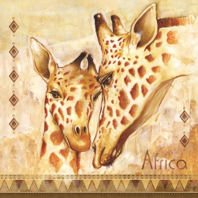 Lunch Servietten Africa-Giraffe,  Tiere - Giraffen,  Regionen - Afrika,  Everyday,  lunchservietten
