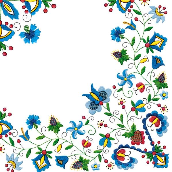 Lunch Servietten Blumenborte/Rand,  Blumen -  Sonstige,  Everyday,  lunchservietten,  Blumen