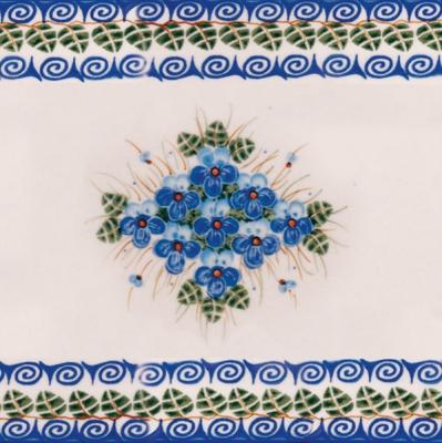 Lunch Servietten Blumen+Rahmen