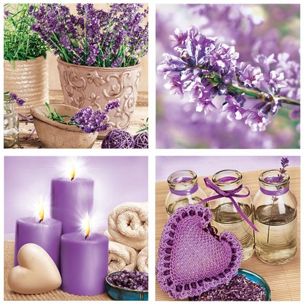 Maki POL-MAK Collection,  Blumen -  Sonstige,  Weihnachten - Kerzen,  Blumen,  Everyday,  lunchservietten