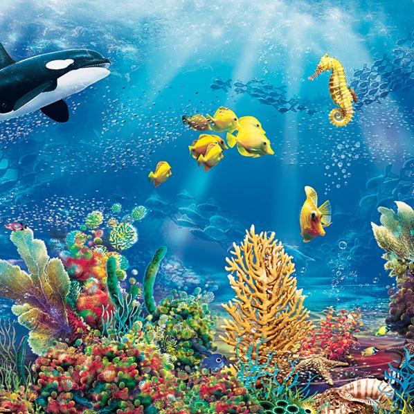 Lunch Servietten Unterwasser