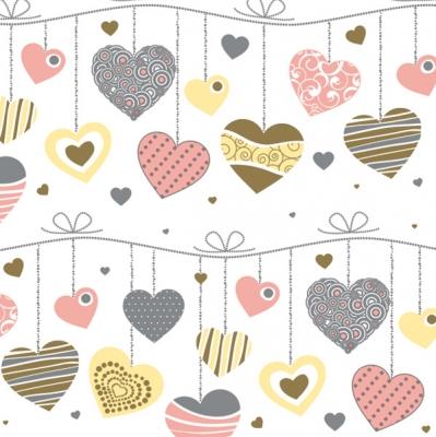 Servietten nach Ereignissen,  Ereignisse - Liebe,  Everyday,  lunchservietten,  Herzen