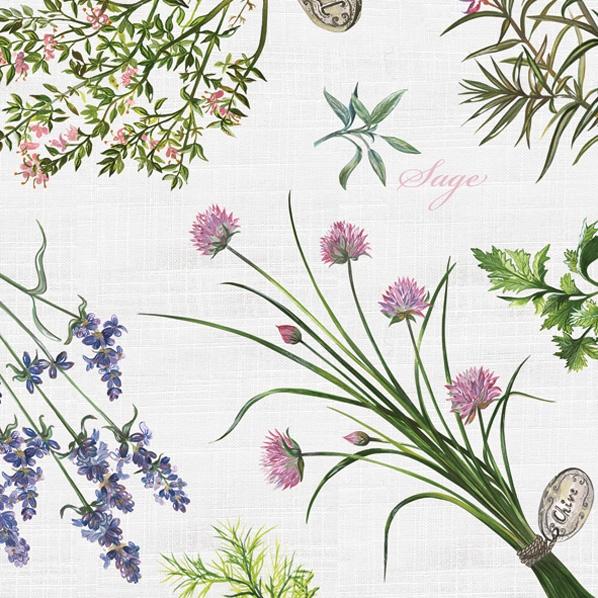 Servietten / Lavendel,  Pflanzen,  Blumen - Lavendel,  Everyday,  lunchservietten,  Lavendel,  Rosmarin