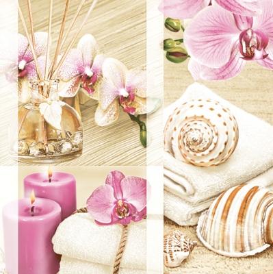 Servietten Blumenmotive,  Weihnachten - Kerzen,  Blumen - Orchideen,  Everyday,  lunchservietten,  Orchideen,  Kerzen