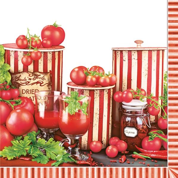 Lunch Servietten Tomaten,  Gemüse -  Sonstiges,  Gemüse - Tomaten,  Everyday,  lunchservietten,  Paprika,  Tomaten