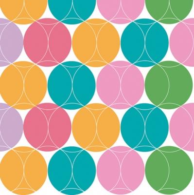 Maki POL-MAK Collection,  Sonstiges - Muster,  Everyday,  lunchservietten,  Punkte,  Kreise