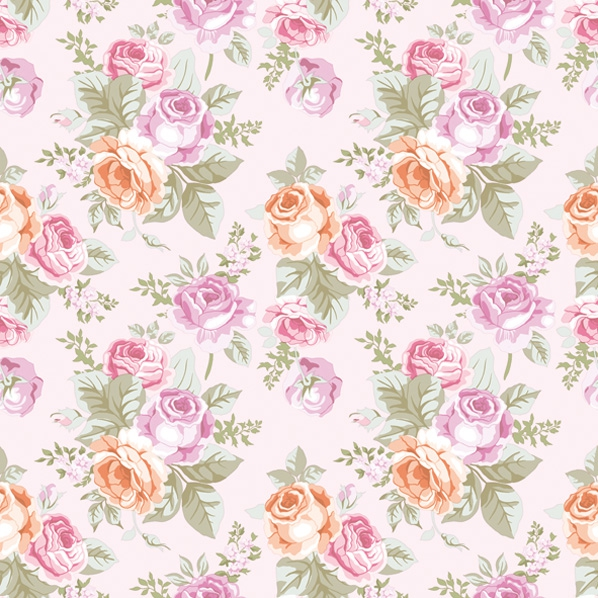 Lunch napkins Pastell Roses Wellpaper