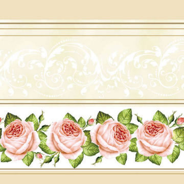 Lunch Servietten rose roses with cream,  Blumen -  Sonstige,  Blumen,  Blumen - Rosen,  Everyday,  lunchservietten