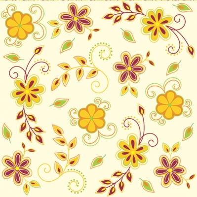 Lunch Servietten Romantic flower orange/brown,  Blumen -  Sonstige,  Frühjahr,  lunchservietten