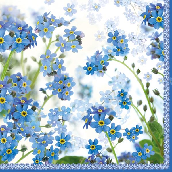 Lunch Servietten Springtime blue,  Blumen,  Frühjahr,  lunchservietten,  Vergissmeinnicht