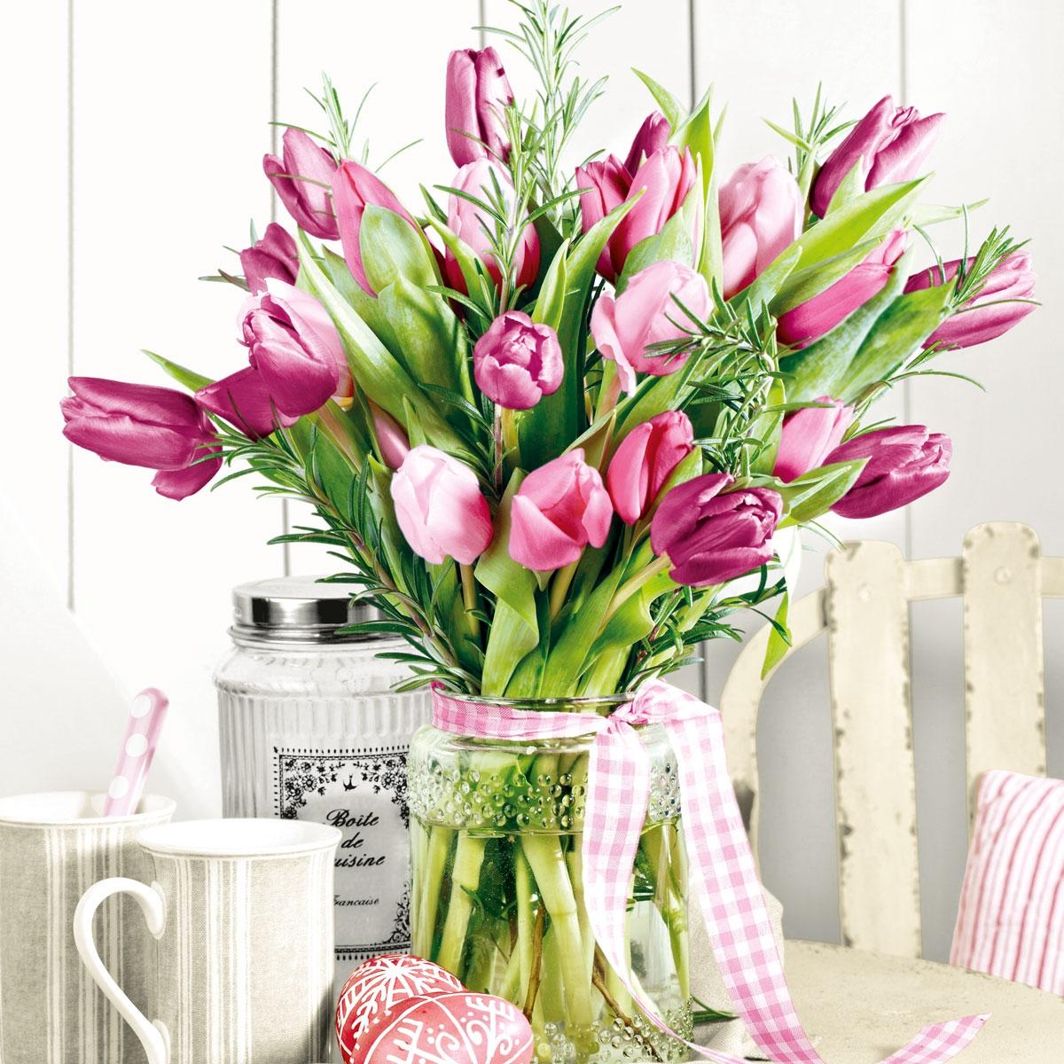 Lunch Servietten Bunch of Tulips,  Blumen - Tulpen,  Everyday,  lunchservietten