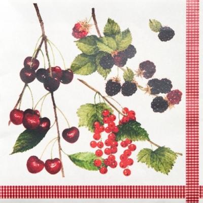 Nouveau Horeca,  Früchte - Brombeeren,  Früchte - Kirschen,  Everyday,  lunchservietten